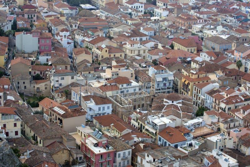 Ciudad de Nafplio en Grecia Vista a la ciudad vieja de Nafplio, Peloponeso, Grecia - Immagine imagen de archivo