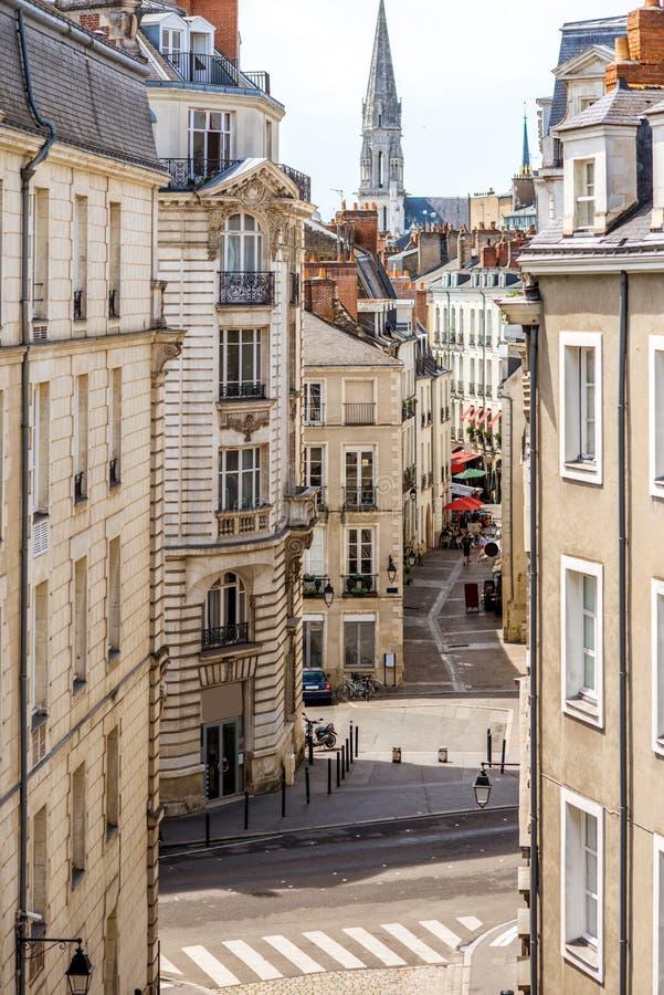Ciudad de Nantes en Francia imágenes de archivo libres de regalías