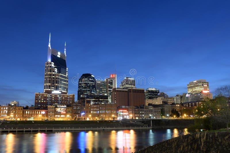Ciudad de Nashville en última hora de la tarde fotografía de archivo libre de regalías
