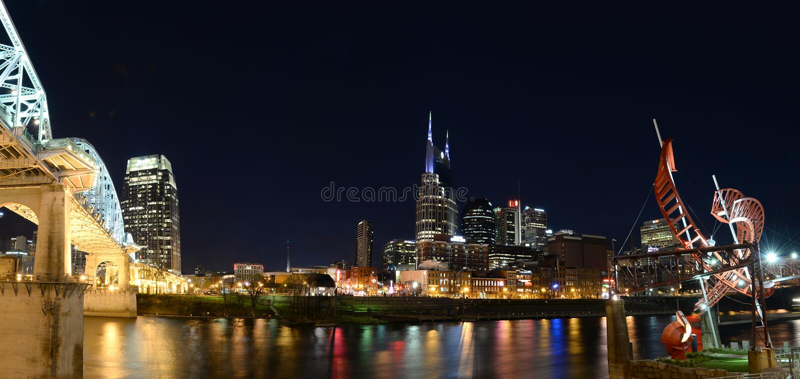 Ciudad de Nashville Tennessee imágenes de archivo libres de regalías