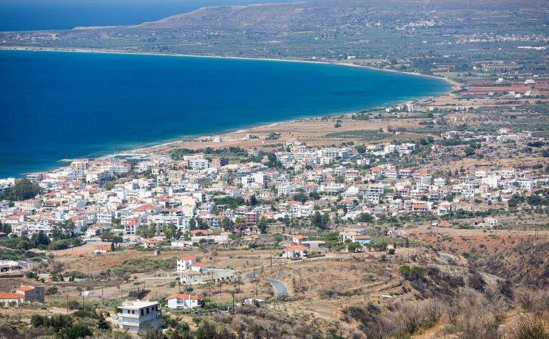 Ciudad de Neapoli Vion, Grecia imagenes de archivo
