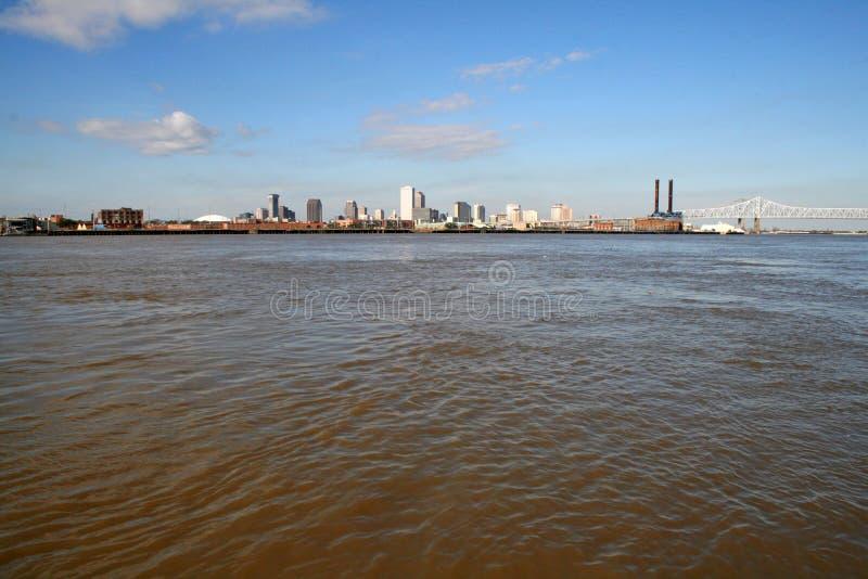 Ciudad de New Orleans del río Misisipi fotografía de archivo libre de regalías