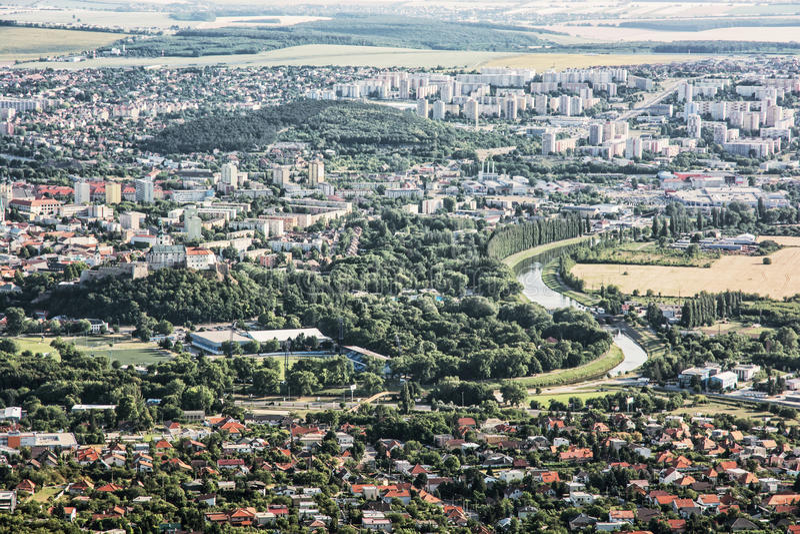 Ciudad de Nitra, Eslovaquia, escena urbana fotografía de archivo libre de regalías