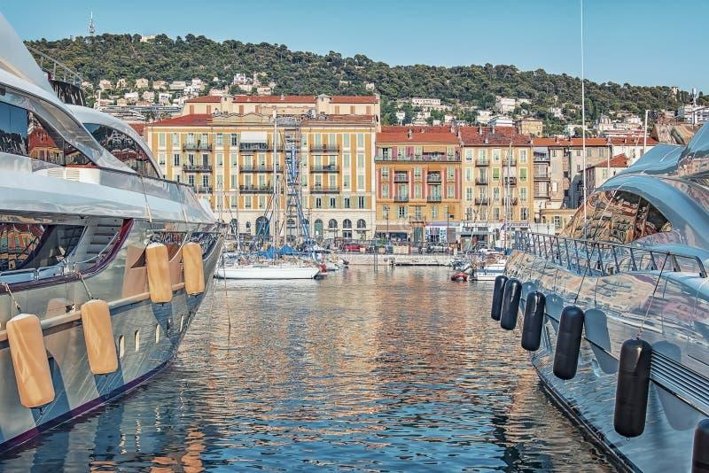 Ciudad de Niza en verano foto de archivo