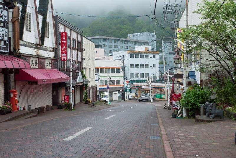 Ciudad de Noboribetsu Onsen, Hokkaido, Japón fotos de archivo libres de regalías