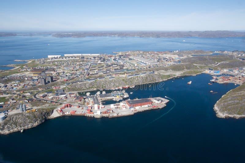 Ciudad de Nuuk, Groenlandia foto de archivo libre de regalías