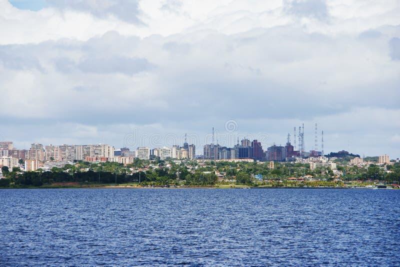 Ciudad de Ordaz del puerto imagen de archivo