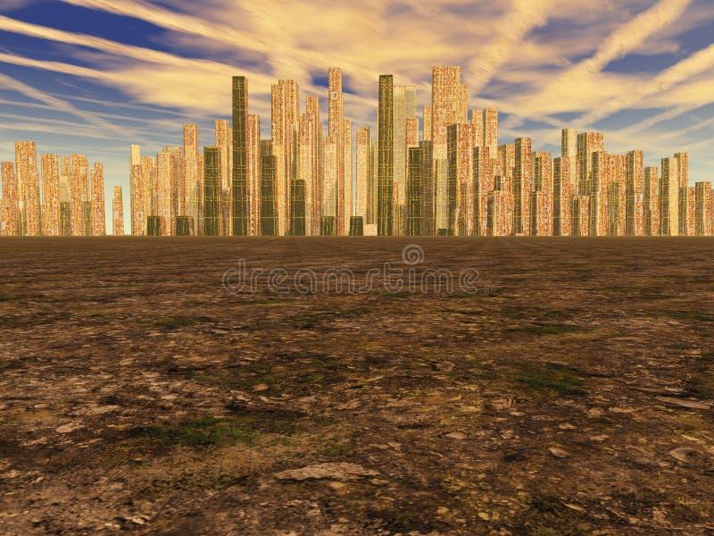Ciudad de oro ilustración del vector