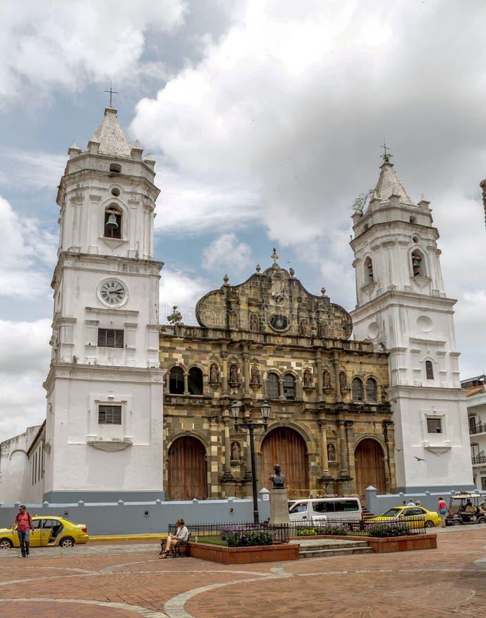 Ciudad de Panamá, Panamá, el 15 de agosto de 2015 Catedral metropolitana Panamá fotos de archivo libres de regalías