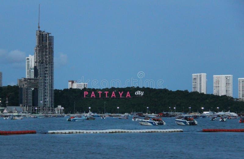 Ciudad de Pattaya del turismo imagen de archivo libre de regalías