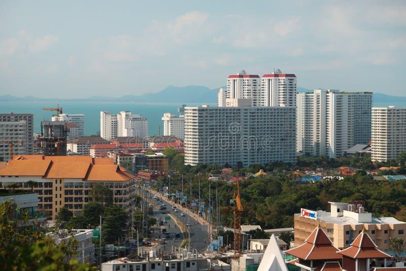 Ciudad de Pattaya, Tailandia fotografía de archivo