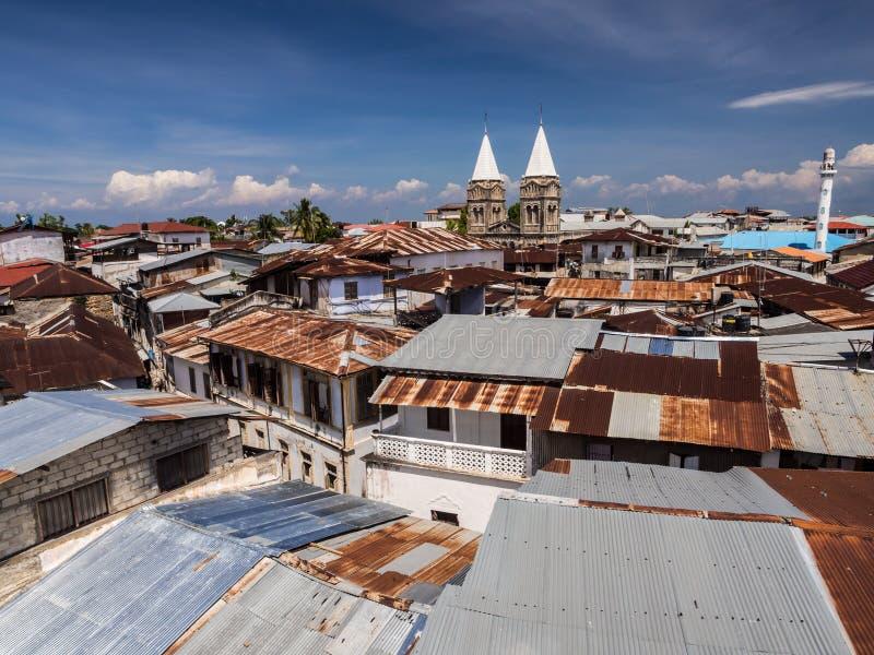 Ciudad de piedra en Zanzíbar imagen de archivo
