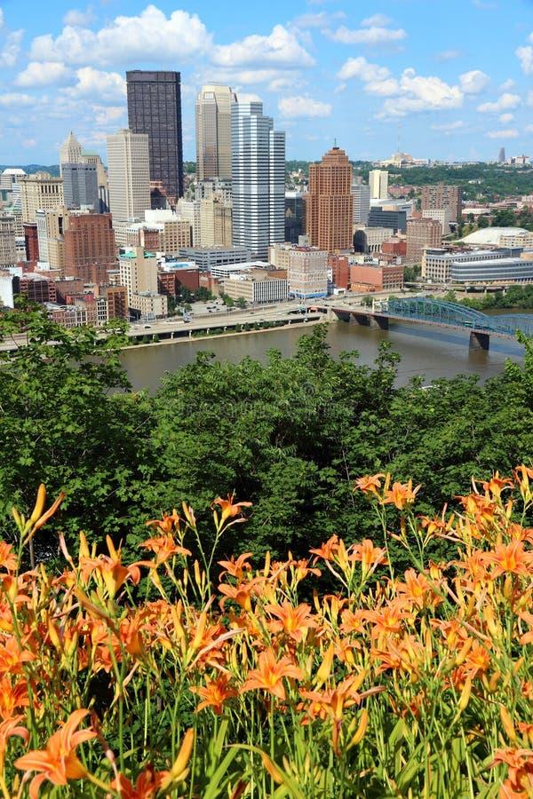 Ciudad de Pittsburgh fotografía de archivo
