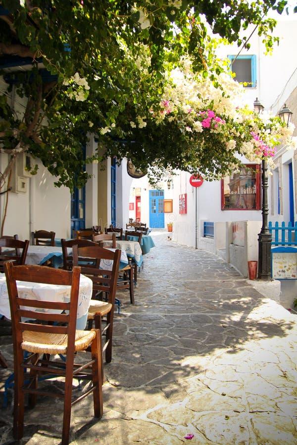 Ciudad de Plaka en la isla de los Milos imágenes de archivo libres de regalías