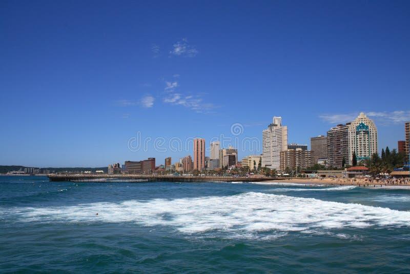 Ciudad de playa fotografía de archivo
