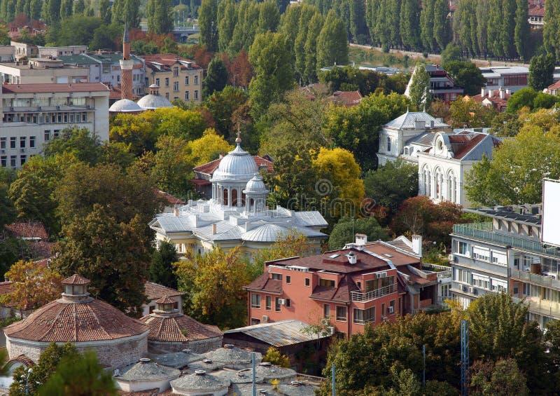 Ciudad de Plovdiv imagenes de archivo