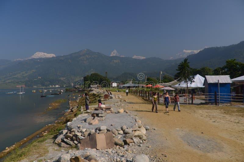 Ciudad de Pokhara, Nepal fotografía de archivo