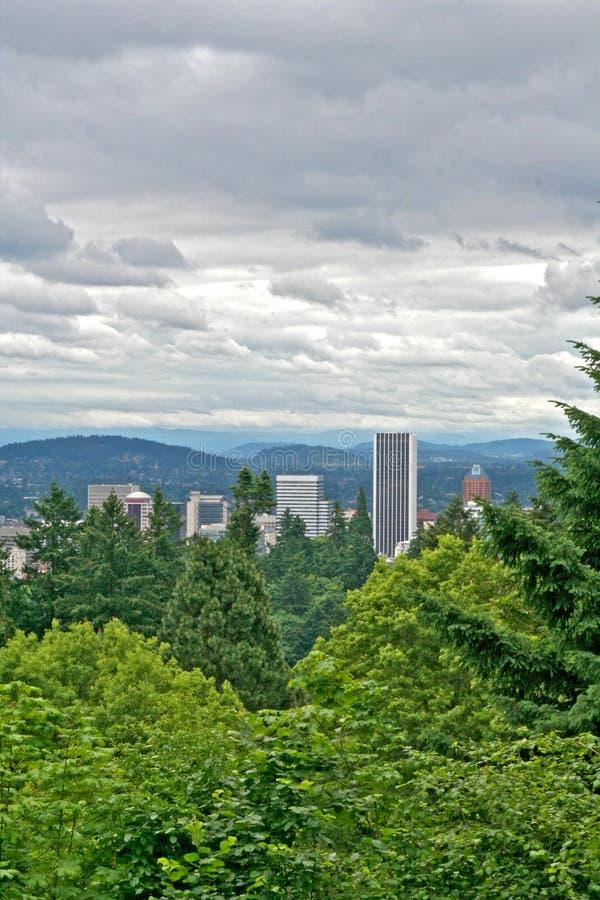 Ciudad de Portland Oregon imágenes de archivo libres de regalías