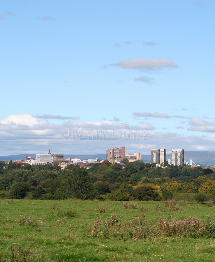 Ciudad de Preston, Lancashire. fotografía de archivo libre de regalías