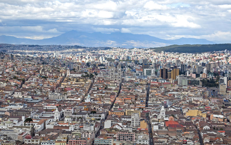 Ciudad de Quito imagen de archivo libre de regalías