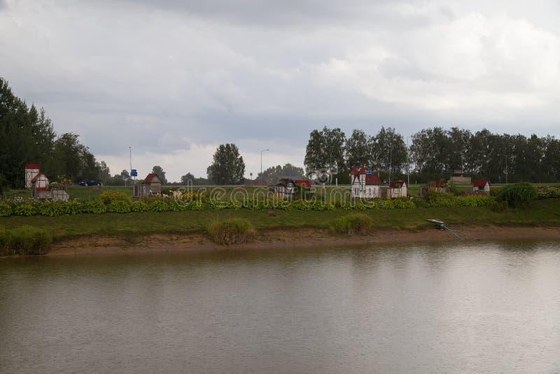 Ciudad de Rabit en Letonia foto de archivo