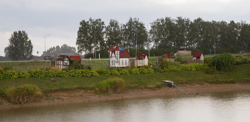 Ciudad de Rabit en Letonia fotografía de archivo libre de regalías
