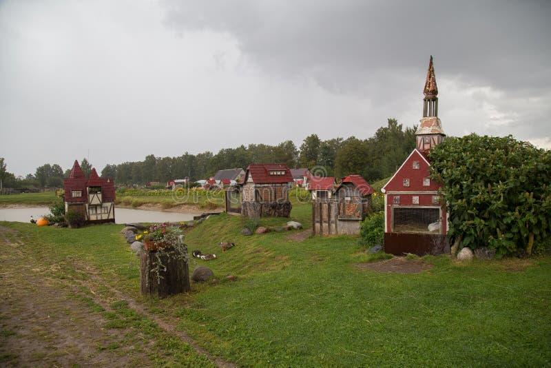Ciudad de Rabit en Letonia imagenes de archivo