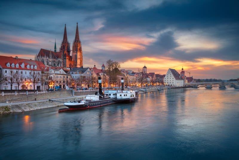Ciudad de Regensburg fotografía de archivo