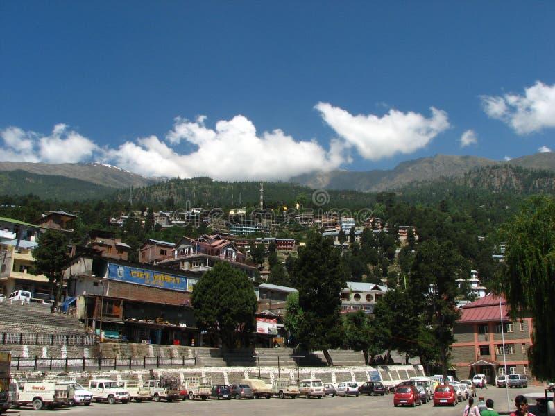 Ciudad de Rekongpeo en Kinnaur la India imagen de archivo