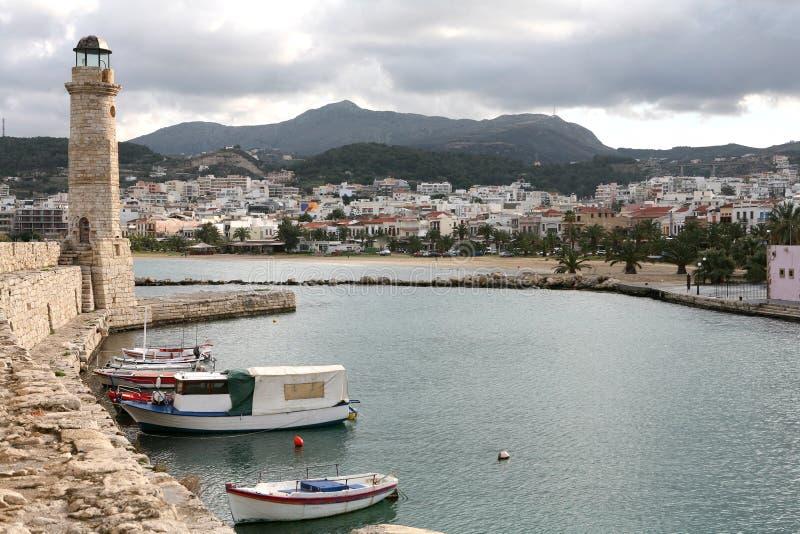 Ciudad de Rethymno foto de archivo libre de regalías