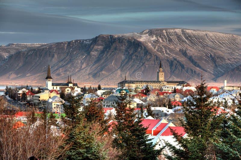 Ciudad de Reykjavik fotografía de archivo