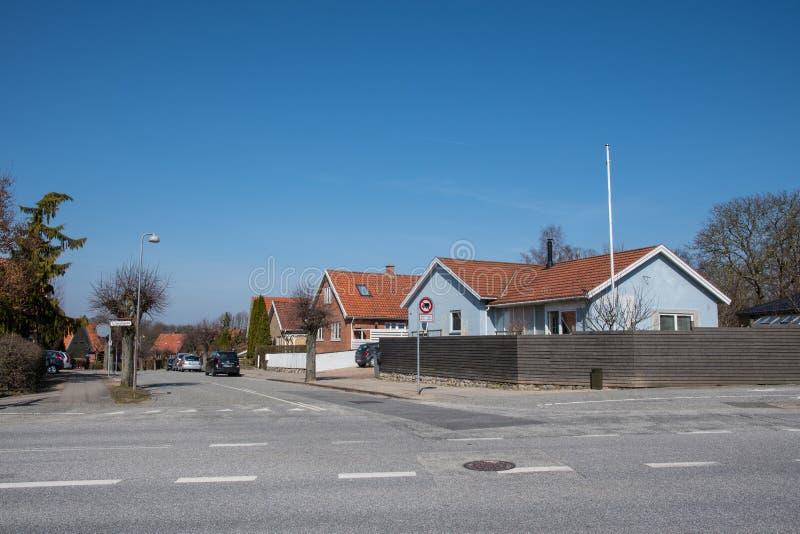 Ciudad de Ringsted en Dinamarca imagenes de archivo