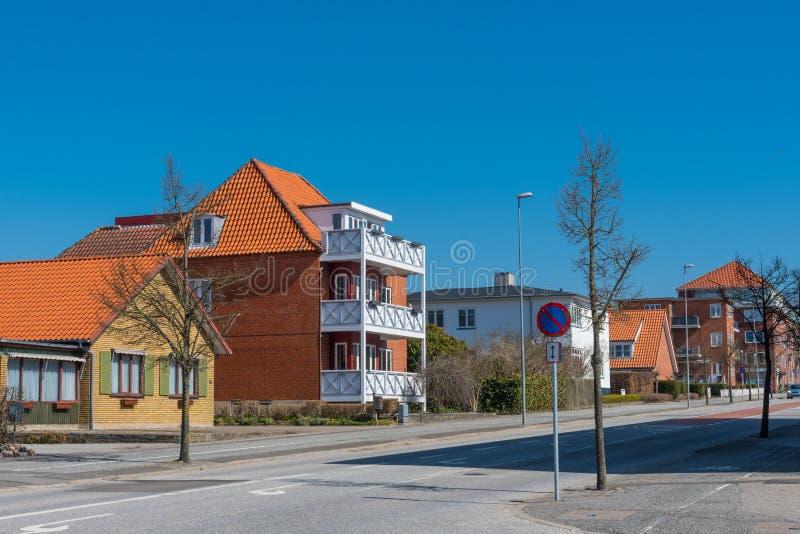 Ciudad de Ringsted en Dinamarca fotografía de archivo