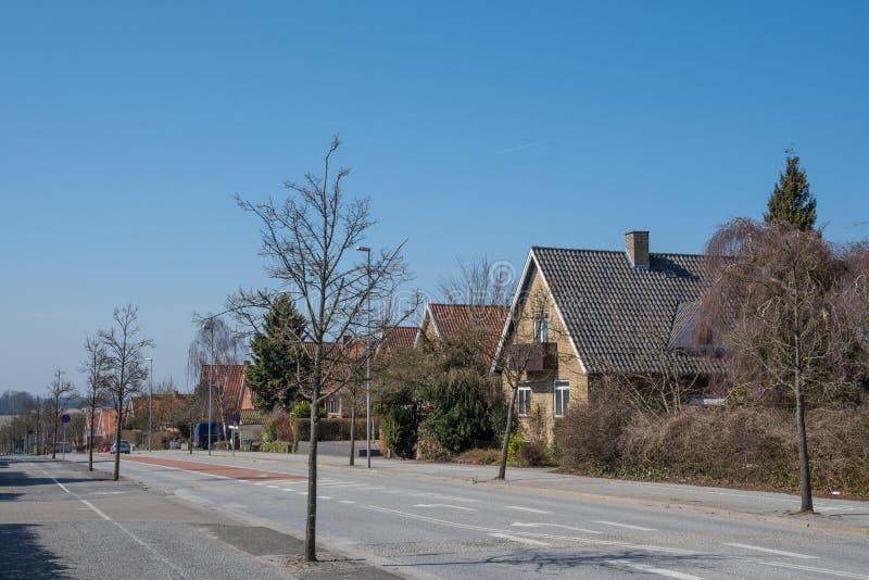 Ciudad de Ringsted en Dinamarca foto de archivo