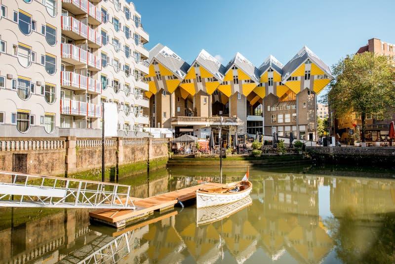 Ciudad de Rotterdam en Países Bajos foto de archivo