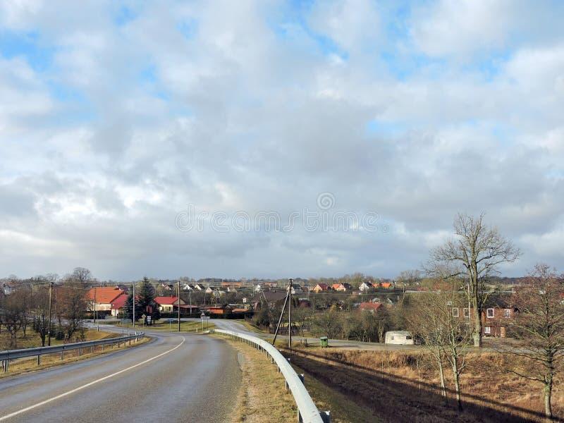 Ciudad de Rusne, Lituania imagen de archivo