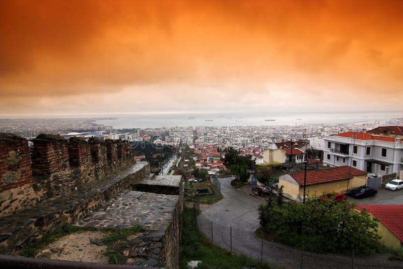 Ciudad de Salónica foto de archivo