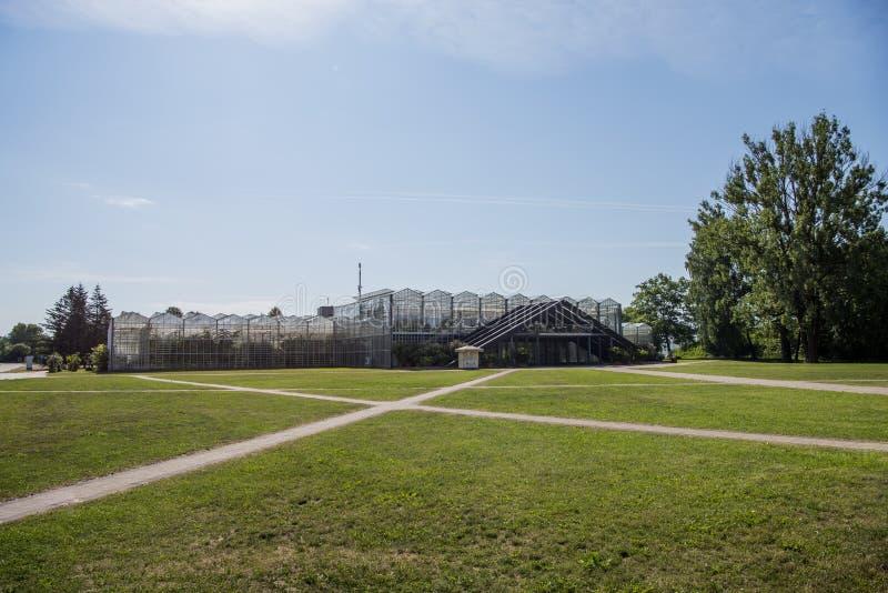 Ciudad de Salaspils, paisajes de la naturaleza del jardín botánico de Letonia 2019 imagenes de archivo
