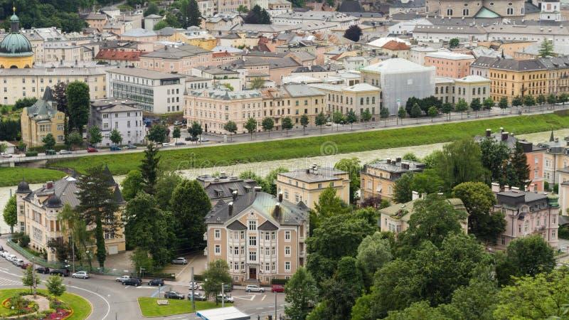 Ciudad de Salzburg en verano imágenes de archivo libres de regalías
