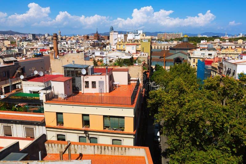 Ciudad de Santa Maria Del Mar Barcelona foto de archivo libre de regalías