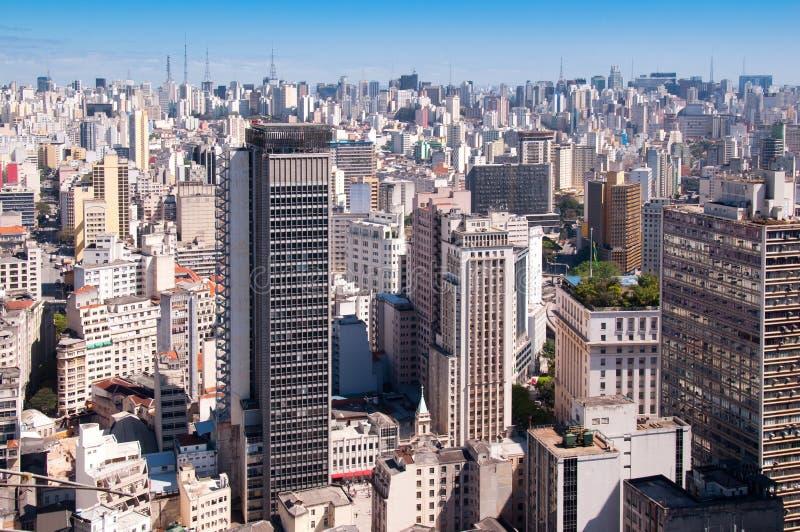 Ciudad de Sao Paulo fotografía de archivo libre de regalías