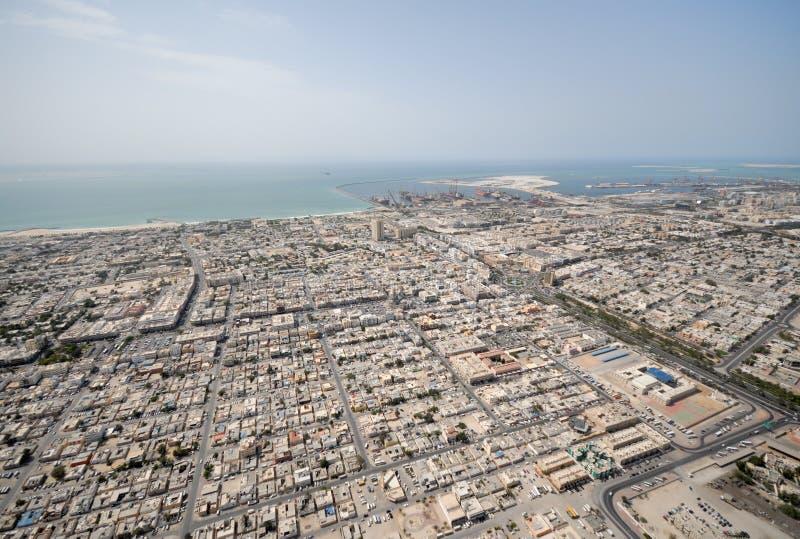 Ciudad de Satwa en Dubai fotos de archivo
