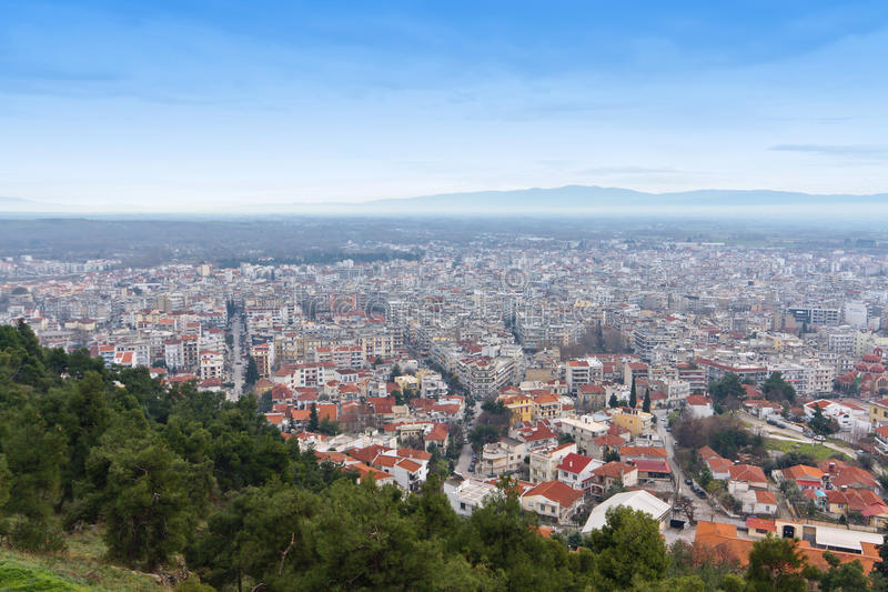 Ciudad de Serres en Grecia del norte fotos de archivo