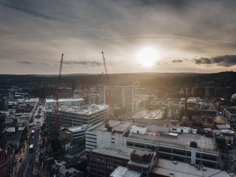 Ciudad de Sheffield fotografía de archivo
