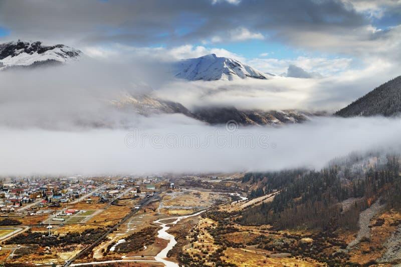 Ciudad de Silverton, vista desde arriba foto de archivo libre de regalías