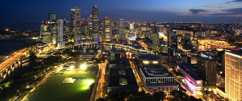 Ciudad de Singapur fotografía de archivo libre de regalías