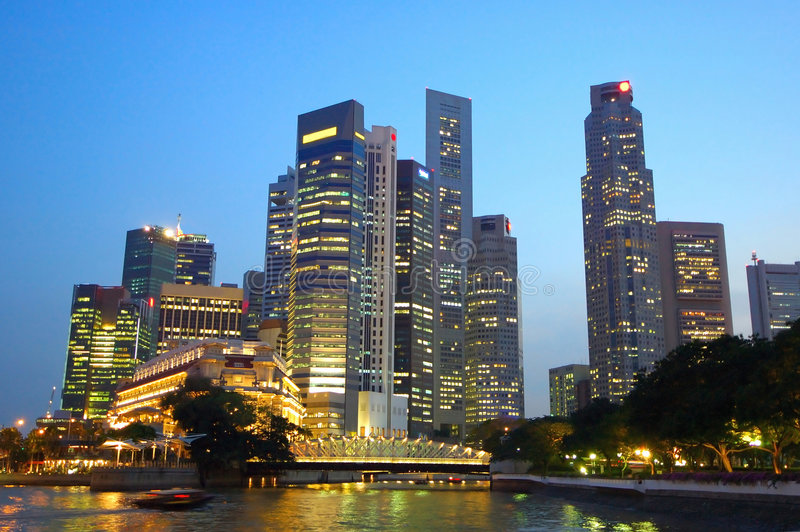Ciudad de Singapur imagen de archivo libre de regalías