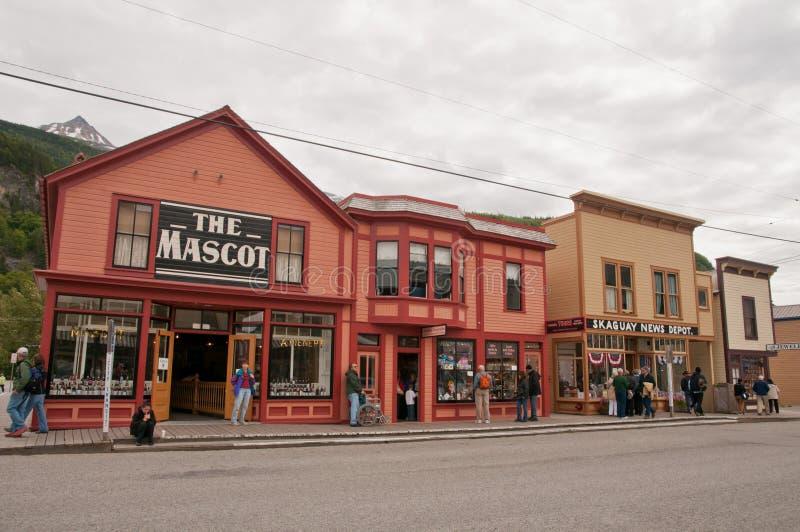 Ciudad de Skagway fotografía de archivo