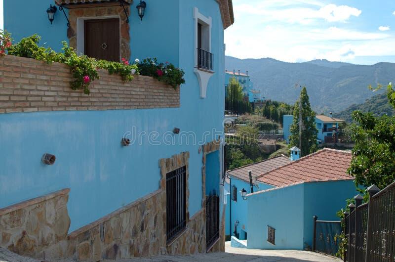 Ciudad de Smurf, Juzcar en Ronda, España imágenes de archivo libres de regalías