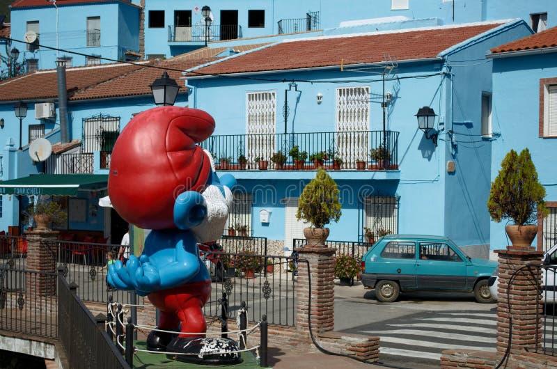 Ciudad de Smurf, Juzcar en Ronda, España imagenes de archivo